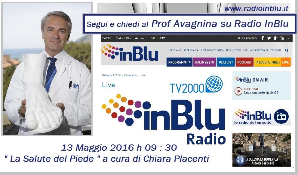 """Il 13 maggio in diretta su radio InBlu """" La salute del piede """" a cura di Chiara Piacenti"""