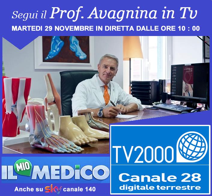 Il mio medico – Tv2000 – calli e duroni – Prof Avagnina in diretta TV