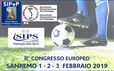 Congresso Europeo Podologia Podoiatria dello Sport – Sanremo 2019